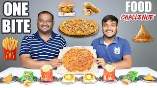 ONE BITE FOOD EATING CHALLENGE | One Bite Food Eating Competition | Food Challenge