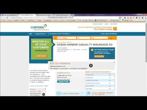 Ocean Harbor Auto Insurance Company and Phone Number