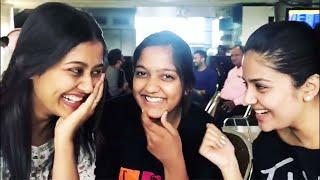 Sreemukhi makes super fun with heroine Pooja Jhaveri at ai..