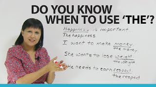 Grammar: Using THE with common and abstract nouns