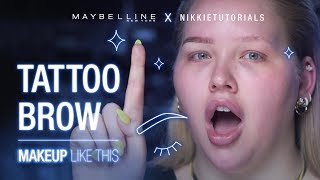 Goodbye Microblading!? How To Use The NEW Brow Tint Pen feat. NikkieTutorials | Maybelline New York