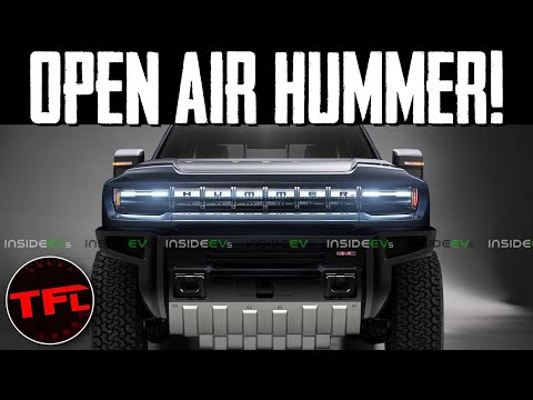 CONFIRMED: See the New Electric Hummer With Its Roof Panels Removed