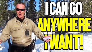 Man Catches Officer Trespassing and Orders Him to Leave
