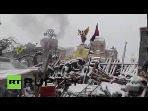 Maidan remains occupied, but eerily quiet