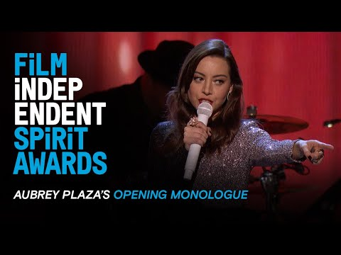 Aubrey Plaza's Opening Monologue at the 35th Film Independent Spirit Awards