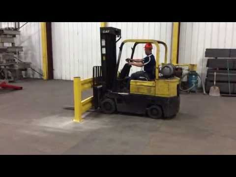 Safety Rail Forklift Test