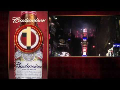Budweiser New Years Eve Times Square 2010