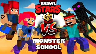 BRAWLERS VS MONSTERS BRAWL STARS 39 MONSTER SCHOOL 브롤스타즈 마크 애니메이션