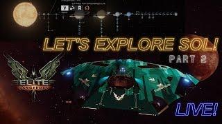 Exploring the Solar System in Elite Dangerous Part 2! - Live Stream