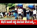 టిఫిన్ సెంటర్ వద్ద  హాల్ చల్ చేసిన బన్నీ   Allu Arjun Having Breakfast At Road Side   IG Telugu