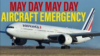 "AIR FRANCE BOEING 777 ENGINE FAILURE ""MAYDAY"" (AF681 LIVE ATC)"