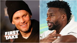 Emmanuel Sanders reacts to Tom Brady to the Buccaneers   First Take