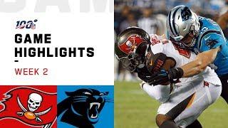 Buccaneers vs. Panthers Week 2 Highlights | NFL 2019