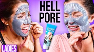 Ladies Try the PAINFUL Hell Pore Face Mask.. DRUNK!