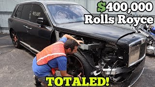 I Found a $400,000 Rolls Royce Cullinan at Salvage Auction! It should be SAVED!