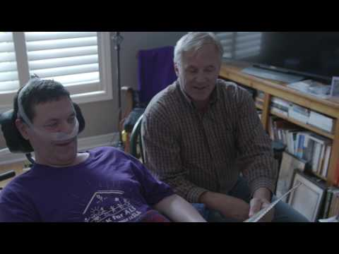 B-roll (no audio): B-roll to accompany sound bites from Chris McCauley, who is living with ALS in Barrie, Ontario and is hopeful about the potential for international research partnership Project MinE to learn about the causes of ALS. Canada's participation in Project MinE is being spearheaded by the ALS Society of Canada. Footage also includes shots of Chris with his brother Mike.