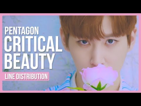 PENTAGON - Critical Beauty (예뻐죽겠네) Line Distribution (Color Coded)