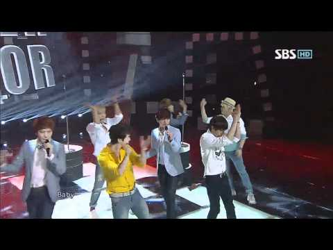 Super Junior [너로부터 + Sexy Free & Single] @SBS Inkigayo 인기가요 20120708