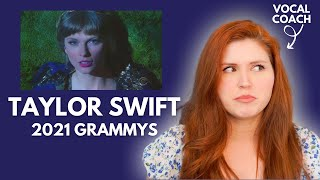 TAYLOR SWIFT I 2021 Grammy Awards I Vocal Coach Reacts!