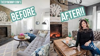 NEW! Cozy Rustic Glam Fall Living Room Makeover
