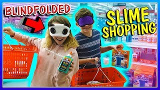 BLINDFOLDED SLIME SHOPPING! | We Are The Davises