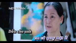 [Karaoke HD] Dẫu Anh Không Nhìn Thấy | Full Beat Gốc | Châu Khải Phong | Newtitan