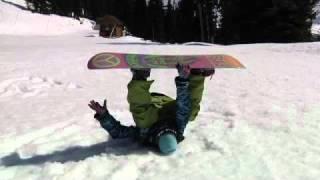 Aprender a saltar con la tabla de snow