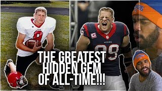 JJ Watt's High School Highlights Are Crazy!!! 2 Star Recruit To 3 Time Defensive MVP!!! [Reaction]