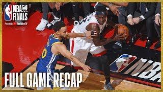 WARRIORS vs RAPTORS | Toronto Grabs Franchise First Finals Win! | NBA Finals Game 1