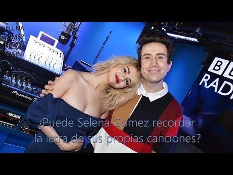 Puede Selena Gomez recordar sus propias letras? - Entrevista en español
