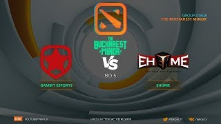Финал [RU] Gambit vs EHOME | Bo5 | The Bucharest Minor by @Tekcac