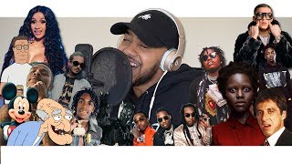 Hit Rap Songs in Voice Impressions 2! | M**der On My Mind, Space Cadet, Act Up + More!