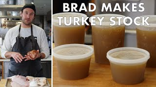 Brad Makes Thanksgiving Turkey Stock   From the Test Kitchen   Bon Appetit