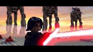LEGO Star Wars The Last Jedi:  Luke Skywalker vs. Kylo Ren on Crait [Shot for Shot]...
