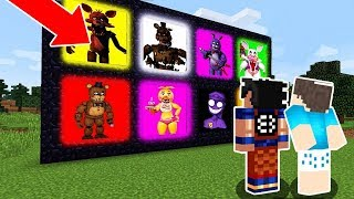 ENCONTRAMOS OS PORTAIS DOS ANIMATRONICS NO MINECRAFT! (FIVE NIGHTS AT FREDDY'S)