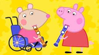 Peppa Pig English Episodes | Meet Mandy Mouse - Playing Music Special | Peppa Pig