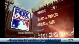 FOX Sports: FOX Saturday Baseball and NFL ON FOX Week 3