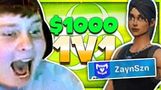 $1,000 WAGER vs. The MOST Toxic Player (Fortnite Box Fights)