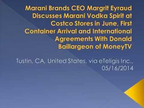 Marani Brands CEO Margrit Eyraud Discusses Marani Vodka Spirit at Costco Stores