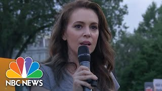 Anti-Trump Protesters Rally Outside White House | NBC News