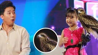 Trấn Thành Hari Won Thán Phục Cô Bé 6 Tuổi Huấn Luyện Chim Diều Hâu | Gia Đình Việt
