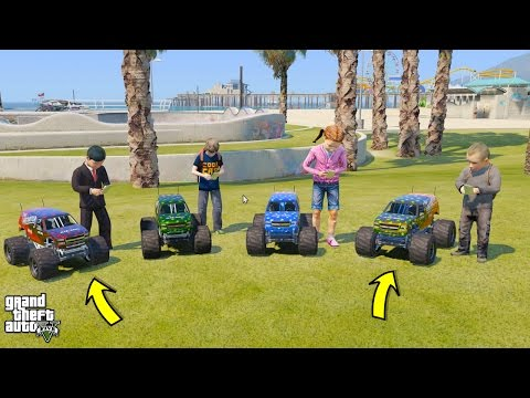 GTA 5 BABY'S REAL LIFE #2 OUR NEW MONSTER TRUCK RC CARS! (GTA 5 Mods For Kids)