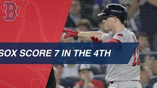 Red Sox break Game 4 open with 7-run 4th inning