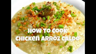 how to cook lugaw with chicken