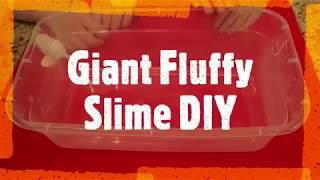 Giant Fluffy Slime DIY