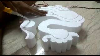 Thermocol carving done by morya arts..