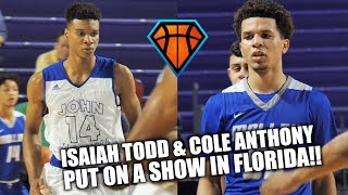 #1 PG Cole Anthony DROPS 37 Pts vs #1 SOPH Isaiah Todd!! | CRAZY Back & Forth Matchup