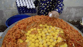 INDIA'S BIGGEST Scrambled Egg | 240 EGGS Scrambled with Loads of Butter | Indian Street Food