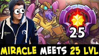 When MIRACLE meets 25 LEVEL Tinker — he gives him mid