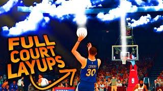 STEPHEN CURRY 200 FOOT FLOATERS Breaks NBA 2K! *FULL COURT LAYUPS*